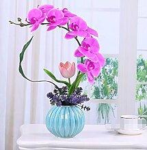 XPHOPOQ Künstliche Blumen Orchideen Wohnzimmer Außenpool Garten Dekoration Weihnachtsgeschenke Violett