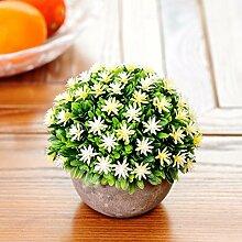 XPHOPOQ Künstliche Blumen Topfpflanzen Büro Garten Hochzeit Dekoration C