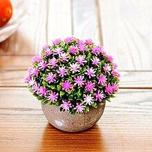 XPHOPOQ Künstliche Blumen Topfpflanzen Büro Garten Hochzeit Dekoration B