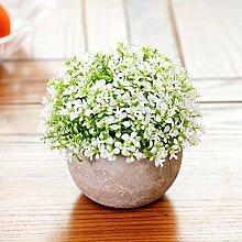 XPHOPOQ Künstliche Blumen Topfpflanzen Büro Garten Hochzeit Dekoration Ae