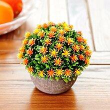 XPHOPOQ Künstliche Blumen Topfpflanzen Büro Garten Hochzeit Dekoration D