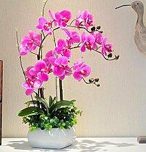 XPHOPOQ Orchid Künstliche Blumen Wohnzimmer Garten Dekoration Weihnachten Geschenk Lila