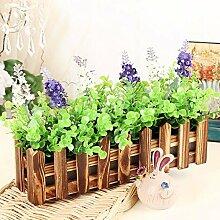 XPHOPOQ Retro Style Zaun Blumen künstliche Blumen Wohnzimmer Garten Dekoration K