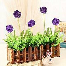 XPHOPOQ Retro Style Zaun Blumen künstliche Blumen Wohnzimmer Garten Dekoration J