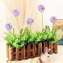 XPHOPOQ Retro Style Zaun Blumen künstliche Blumen Wohnzimmer Garten Dekoration G