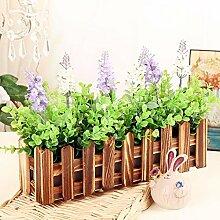 XPHOPOQ Retro Style Zaun Blumen künstliche Blumen Wohnzimmer Garten Dekoration H