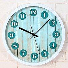 ZHUNSHI 12-Zoll-Vintage-Stil Garten Wohnzimmer Antike Uhr 3D Uhr