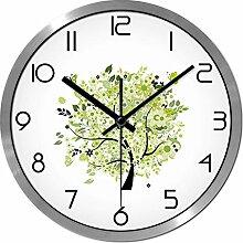ZHUNSHI Gedämpften Mode die Wohnzimmerwand Uhren Wand Diagramme Uhr Tisch Uhr Garten,12 Zoll,Silberne box