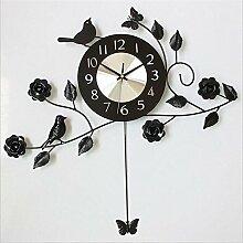 ZHUNSHI Große Quarz Uhren Wanduhr das Wohnzimmer Garten metall Wanduhr, 10 Zoll, wie in Abbildung