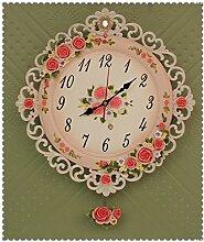 ZHUNSHI Kreative Mode Wohnzimmer Uhr Uhr Uhr stumm Garten Wanduhren