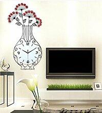 ZHUNSHI Minimalistische Garten große Vase Wand Uhr Mute Europäische moderne Schmiedeeisen Uhren Uhren