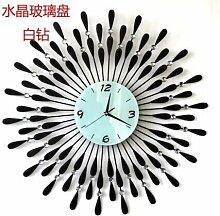 ZHUNSHI Schmiedeeisen Garten Uhr Wand Uhr einfache Persönlichkeit Wohnzimmer Mode Uhren still Quarz Wandtafeln,20 Zoll,B