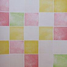 ZPXLGW Badezimmer Mosaik Selbstklebende Tapete Tapetenkleister Wasserdicht Küche Bad Aufkleber 120 Cm /47.2 Zoll * Länge 100 Cm /39.4 Zoll,Pink