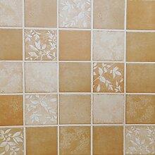 ZPXLGW Badezimmer Mosaik Selbstklebende Tapete Tapetenkleister Wasserdicht Küche Bad Aufkleber 120 Cm /47.2 Zoll * Länge 100 Cm /39.4 Zoll,Yellow