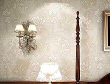 ZPXLGW Europäische Tapete Ein Vliesstoff Mit Wasser Gewaschen Dick Cloud-dimensional 3D Wallpaper Schlafzimmer Wohnzimmer Hintergrund Zu 0 53 M (20 8 ') X 10 M (393') = 5 3 M2 (57 Sq Ft),SilkWhite