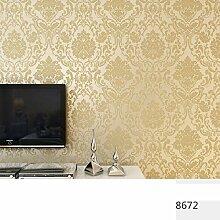 ZPXLGW European 3D-Vliesstofftapete Wohnzimmer Schlafzimmer TV Kulisse Warm Perspektive Damaskus Tapete 0 53 M (20 8 ') X 10 M (393') = 5 3 M2 (57 Sq Ft),9602