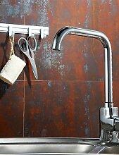*-* 0.5 Deck montiert Küchenarmatur aus massivem Messing verchromt einzigen Handgriff Wasserhahn k4013