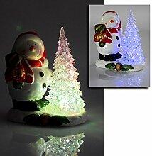 (021) LED Weihnachtfigur Weihnachtsmann Schneemann