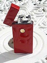 [1 JAHR GARANTIE] Elektrisches Feuerzeug, rotes