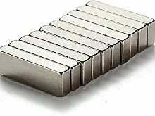 (10Stück) starker Block Bar Neodym 20mm x 10mm x 4mm, die Neo DIY Craft stark Rare Earth NdFeB Magnete