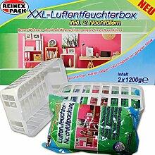 (120) XXL Luftentfeuchter Box m 2 x 1,2 Kg