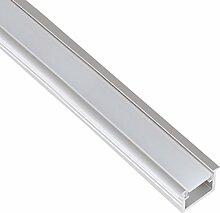 (14,95 €/m) Aluminium Einbau Profil eloxiert 2m