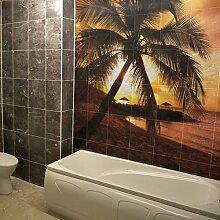 (190x 190cm) Personalisierte Wasserdicht Tile Badezimmer Wandsticker Druck/Bad Foto, Foto Dekor Aufkleber/bedruckbar glänzend, matt Schild selbstklebend personalisierte