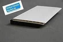 (24,50 €/m) Rollladenkastendeckel weiß RKD 120 mm, 2,50 mtr. lang, Rollodeckel, Rollladendeckel, Rollo