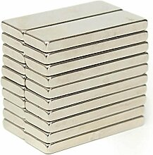 (25Stück) Leistungsstark 30mm x 10mm x 3mm Rare Earth Block Bar Neodym-Magnete