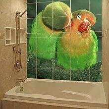 (30x 30cm) Personalisierte Wasserdicht Tile Badezimmer Wandsticker Druck/Bad Foto, Foto Dekor Aufkleber/bedruckbar glänzend, matt Schild selbstklebend personalisierte