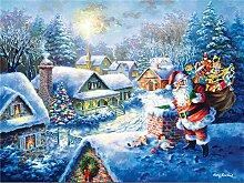 (30x 40cm/30,5x 40,6cm) Santa Claus in the Snow Fashion DIY Diamant Gemälde Stickerei Kreuzstich Diamant Mosaik Naht Art Christmas Dekoration