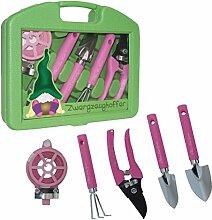 ''Mimi´s little Garden'' - Zwergzeugkoffer   Werkzeug Koffer Set Kinder   Werkzeugkasten   Geschenkidee für Kinder   Werkzeug pink   Geschenk für Frauen   Mädchen Werkzeugkoffer   Preis am Stiel®