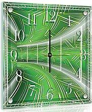 'delester Design cg10074g7Flur grün Wanduhr aus Glas (déco-vitre) Glas bunt 40x 40x 4cm
