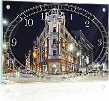 'delester Design cg10616g3Stadt Katowice in Polen Wanduhr aus Glas (déco-vitre) Glas mehrfarbig 60x 40x 4cm