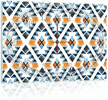 'delester Design cgb10725g3Motiv geometrische Wanduhr aus Glas (déco-vitre) Glas mehrfarbig 60x 40x 4cm