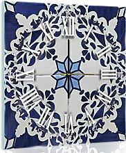 'delester Design cgb11011g7Wanduhr aus Glas (déco-vitre) Glas bunt 40x 40x 4cm