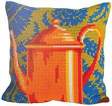 'Duftin 5013Teedose mit Kupfer-Set Kissen großen Löchern Baumwolle Mehrfarbig 50x 45x 0,1cm
