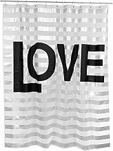 'fisura Duschvorhang Love Wasserdicht mit