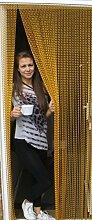 'GOLD'- Kettenvorhang aus Aluminium/ Sichtschutz/ Insektenschutz- 80 cm brei