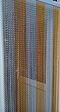 'GOLD UND SILBER'- Kettenvorhang aus Aluminium/ Sichtschutz/ Insektenschutz- 90 cm brei