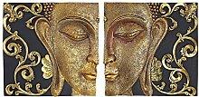 'Interpret Design Toscano verspiegelt Nirvana Dual Buddha Asiatische Wand Skulpturen, Gold, 5X 26,5X 26,5cm