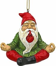 'Interpret Design Toscano Zen Gnome Holiday Ornament, mehrfarbig, 4 x 7,5 x 6,5 cm