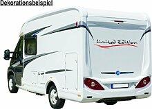 'Limited Edition' Wohnmobil - Aufkleber Caravan-styling Tuning, Farbe:030 dunkelrot, Oberfläche:Glanz, Größe:Größe 3