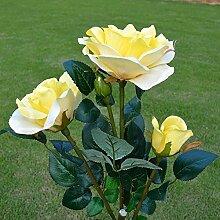 'Rose Blumen-Lichterkette, solarbetrieben,