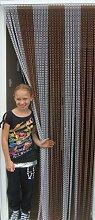 'RUSTIKAL/SILBER'- Kettenvorhang aus Aluminium/ Sichtschutz/ Insektenschutz- 100 cm brei