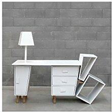 'SELETTI–Büro Design Kenn Desk weiß