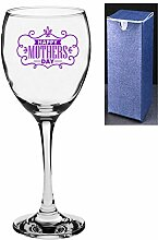 'Weinglas mit Gravur Happy Mothers Day. Engrave A Personal Message On The Reverse Side viole