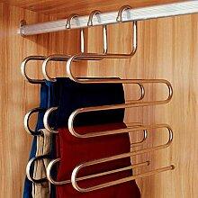 (4 Stück) Kleiderbügel Mehrfach-Hosenbügel