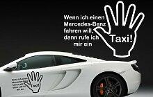 (40x28cm) gelb - Z329 'Wenn ich einen Mercedes