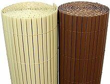 (5€/m²) PVC Bambus Sichtschutzmatte 120cm x 500cm [Braun] Sichtschutz / Windschutz / Gartenzaun / Balkon Umspannung Zaun [ Rapid Teck® ]
